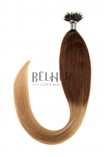 Extensii Nano-Ring Ombre Saten/Blond Aluna