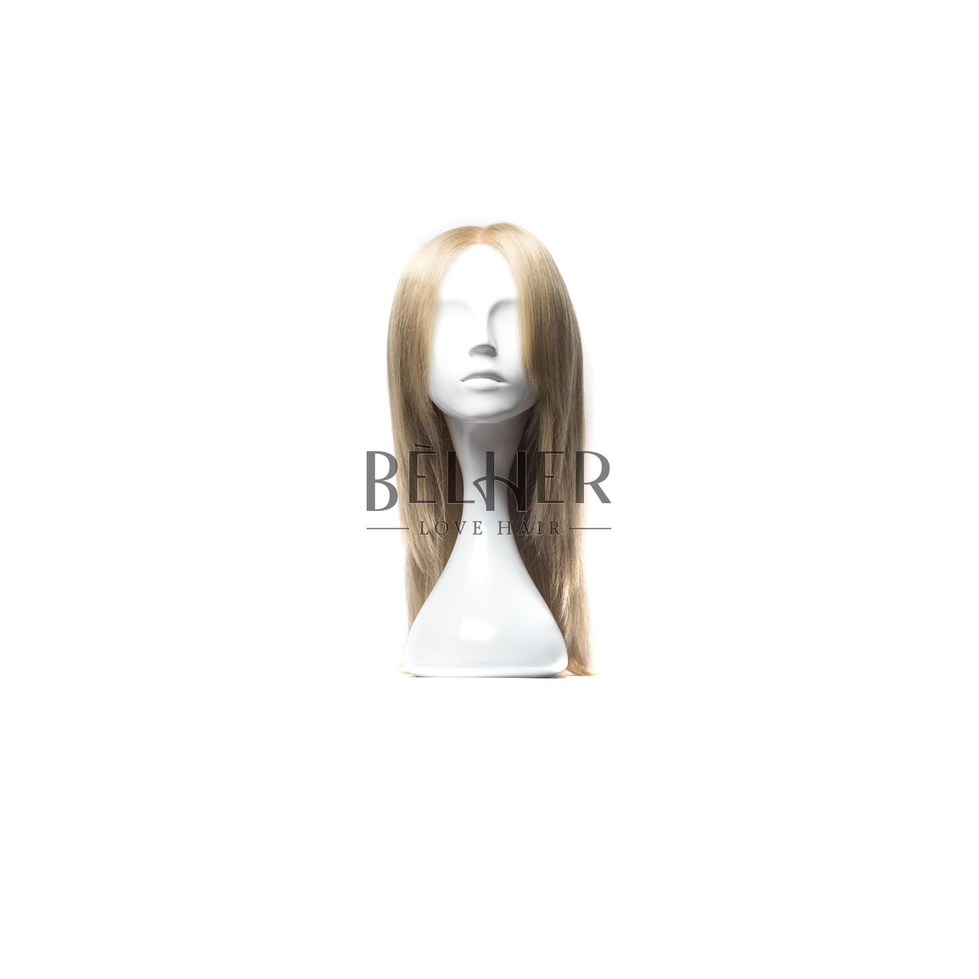 Peruca Naturala MALVINA Mix Blond Cenusiu