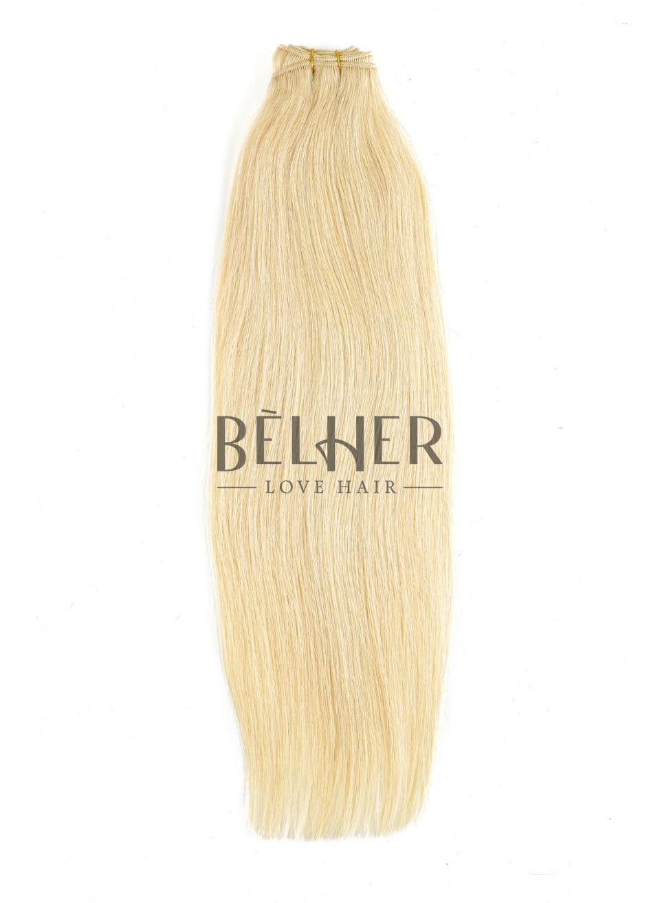 Blond Deschis Auriu Extensii Cusute Premium