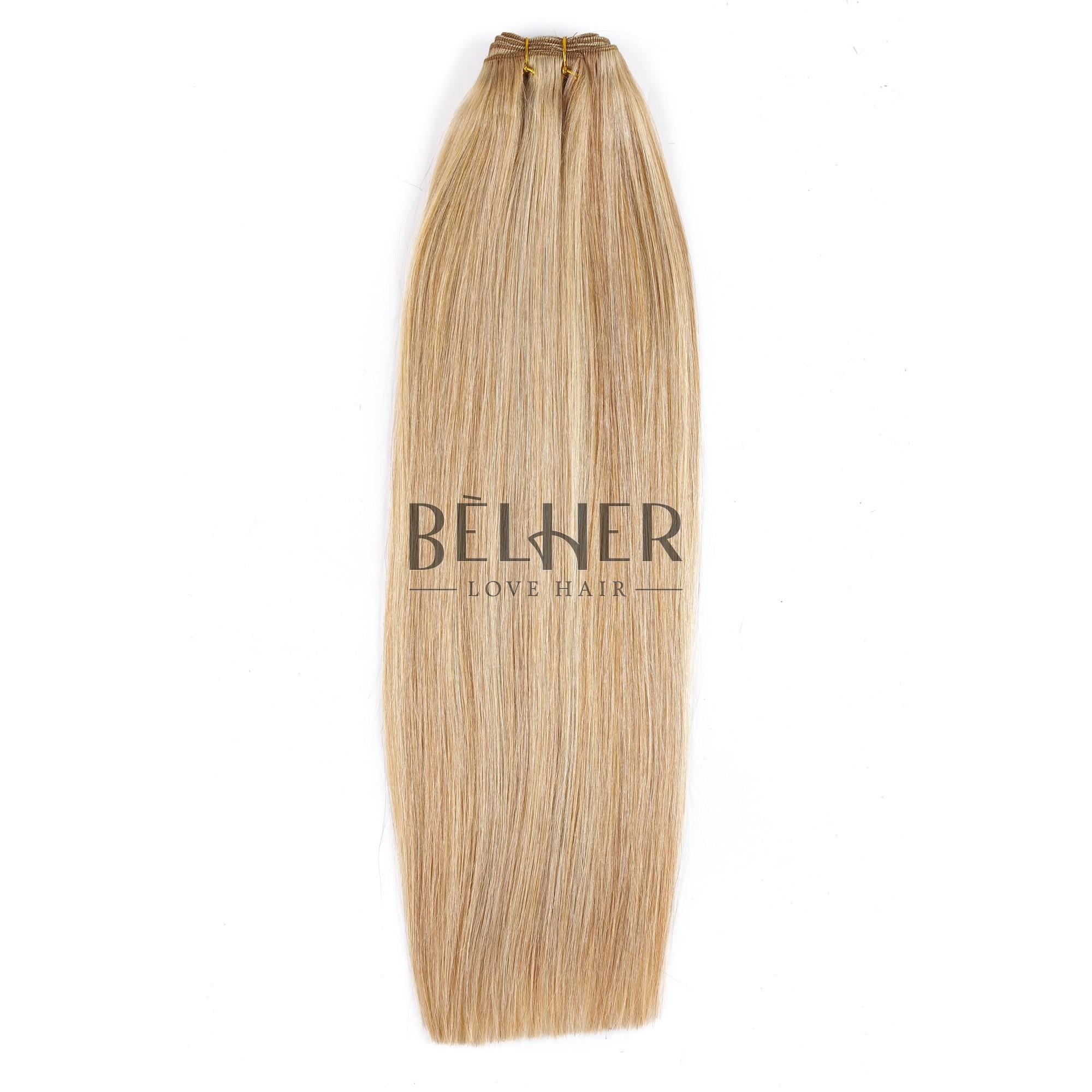 Extensii Cusute Premium Mix Blond Cenusiu
