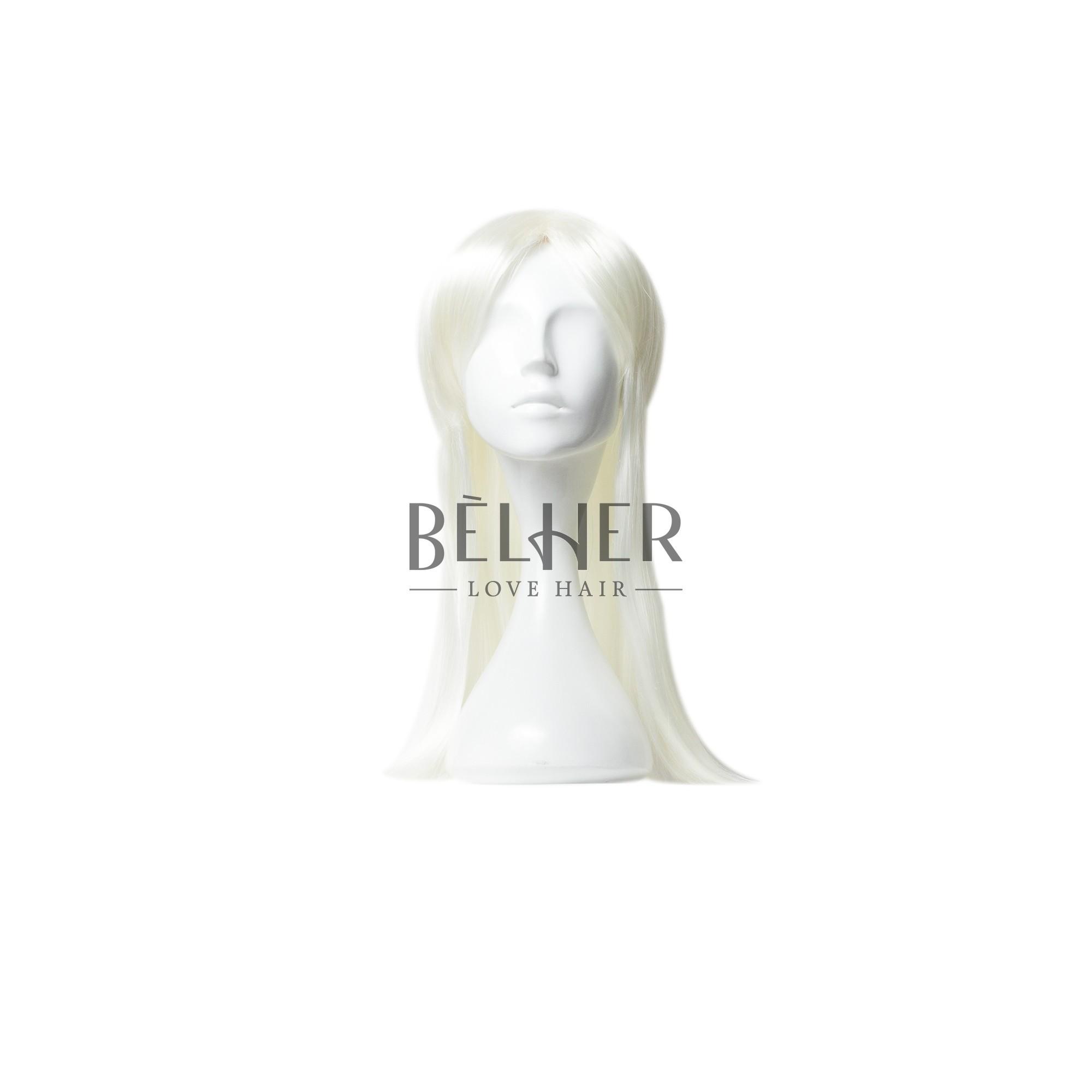 Peruca Partiala Clip-On Blond Alb