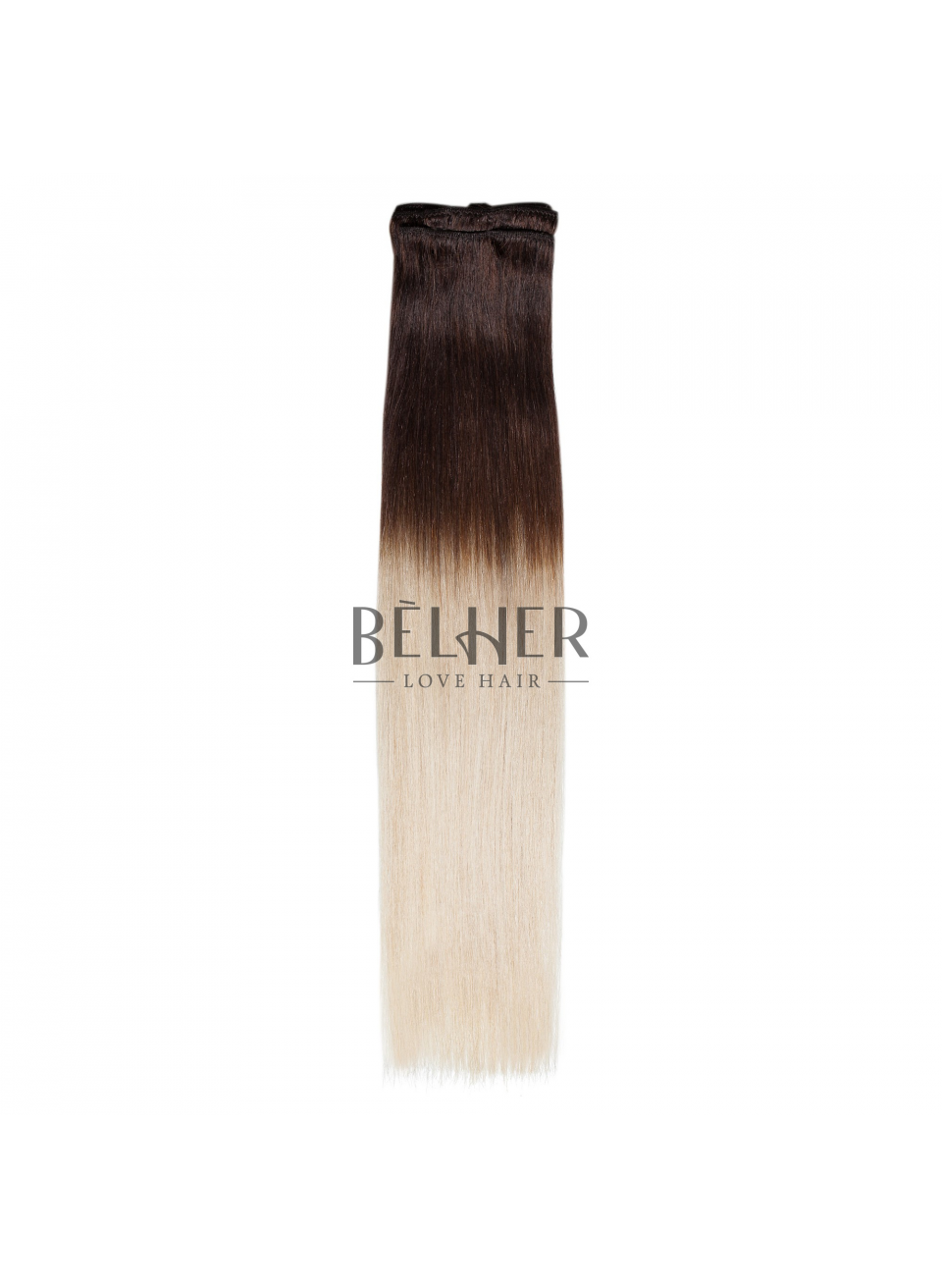 Extensii Clip-On Premium Ombre Saten/Blond Argintiu