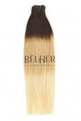 Ombre Ciocolatiu/Blond Deschis Extensii Cusut Premium