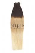 Ombre Saten Inchis/Blond Cenusiu Extnsii Cusute Premium