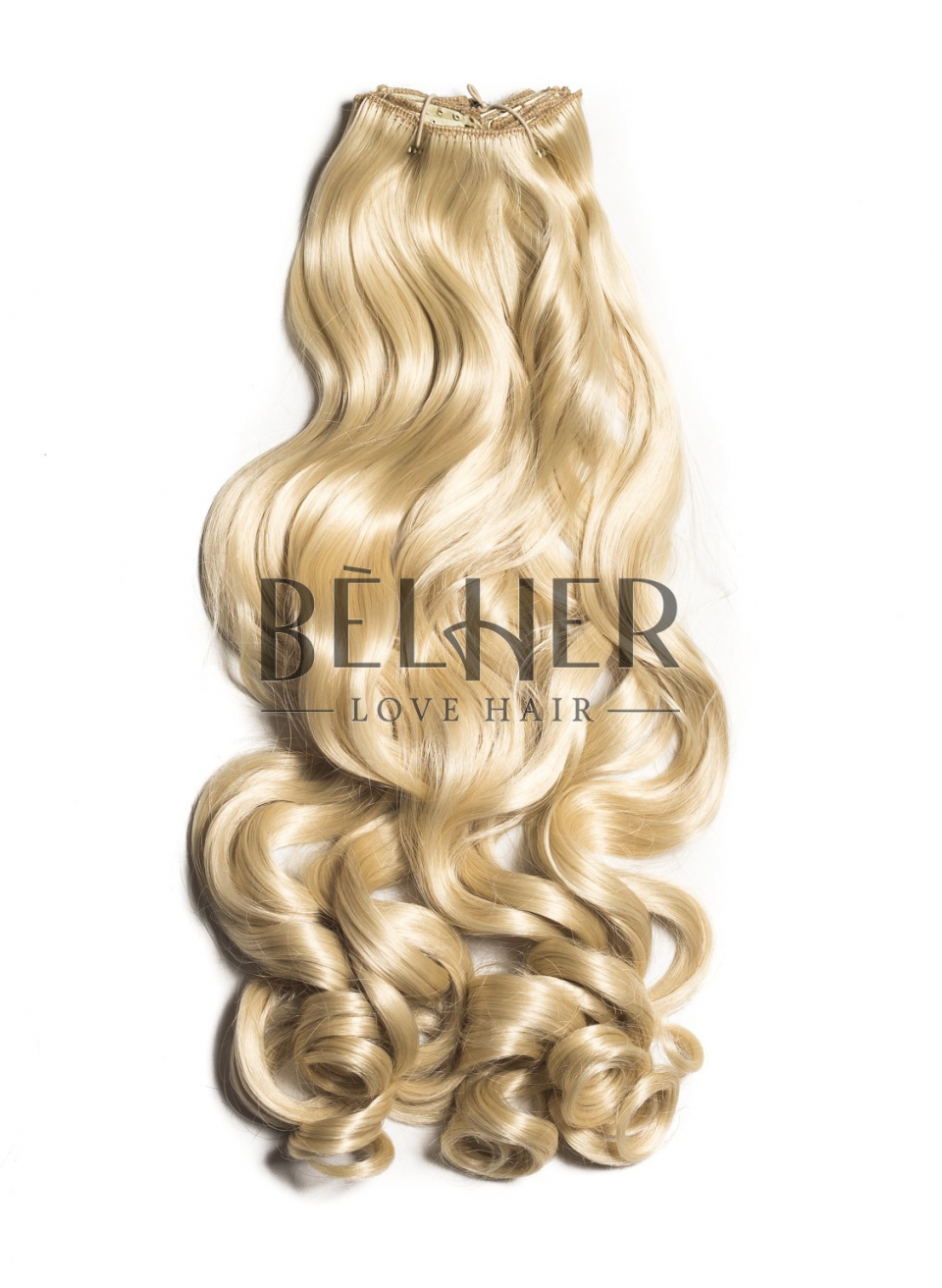 Blond Platinat Extensii Clip-On