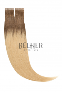 Extensii Tape-On Premium Ombre Saten Natural-Blond