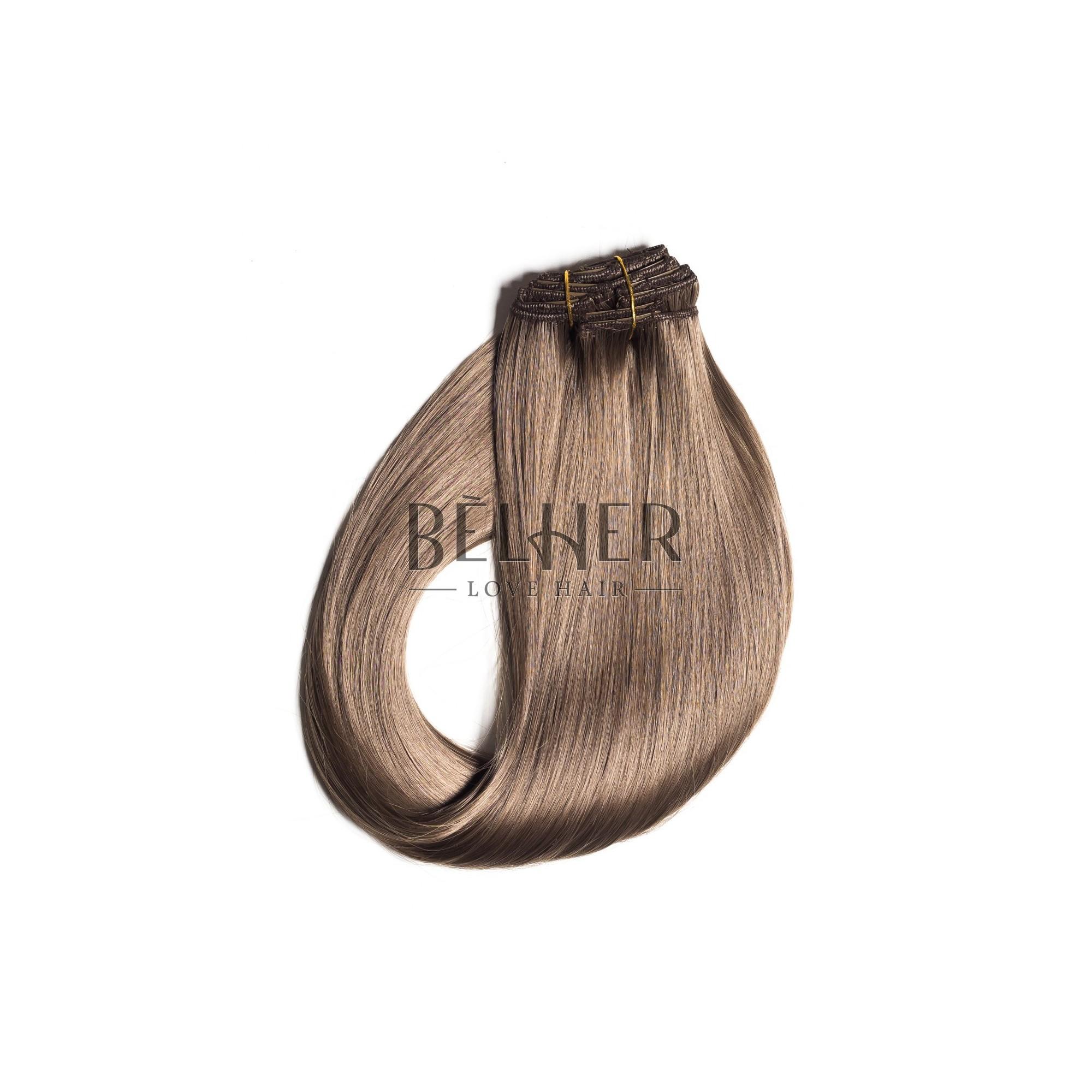 Extensii Clip-On Blond Inchis Cenusiu