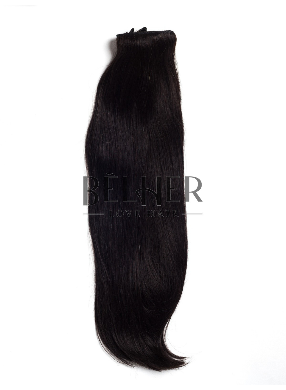 Negru Natural Clip-On Deluxe