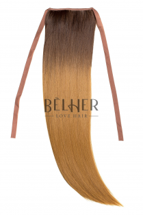 Coada Fibra Sintetica 55cm Ombre Saten Blond Miere