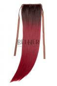 Coada Fibra Sintetica 55cm Ombre Brunet Rosu