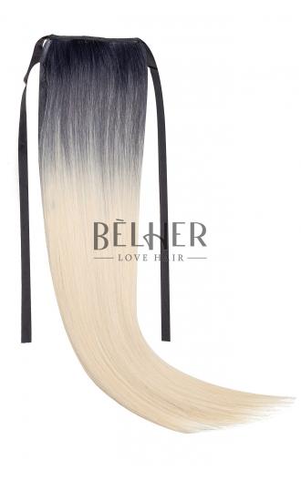 Coada Fibra Sintetica 55cm Ombre brunet blond Deschis