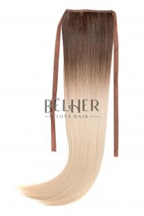 Coada Fibra Sintetica 55cm Ombre Saten Mediu Blond